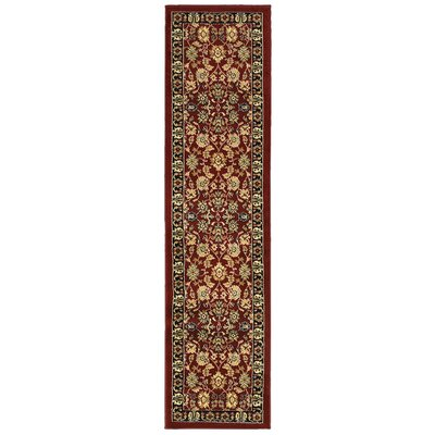 Carrie Persian Red/Black Area Rug Rug Size: Rectangle 1'10