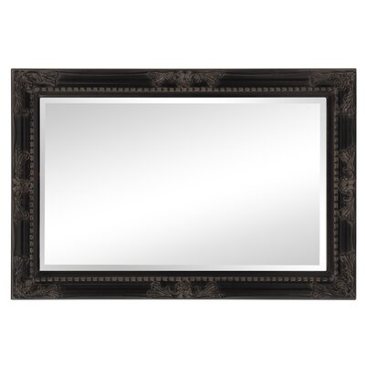 Beveled Rectangle Wood Mirror Finish: Antique Black