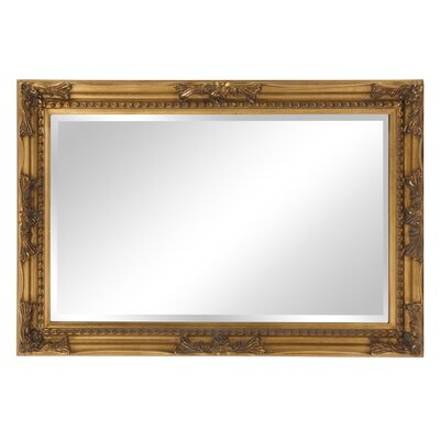 Beveled Rectangle Wood Mirror Finish: Antique Gold