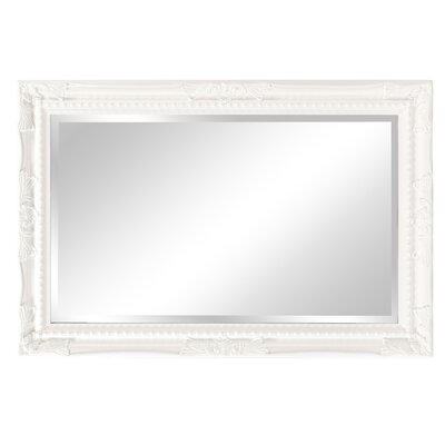 Beveled Rectangle Wood Mirror Finish: Glossy White