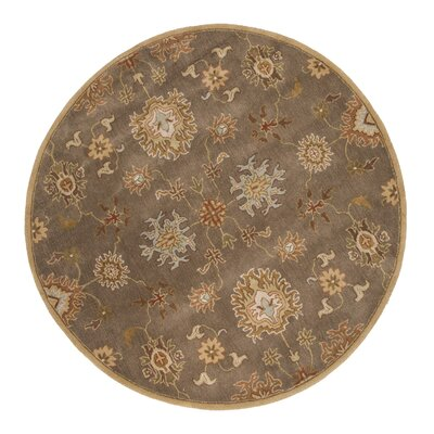 Alfey Brown Area Rug Rug Size: Round 10
