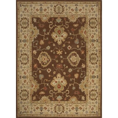 Algo Brown/Tan Area Rug Rug Size: 53 x 76