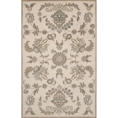Algillo Wool Hand Tufted Ivory/Brown Area Rug Rug Size: 8 x 11