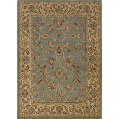 Algo Wool Machine Made Blue/Tan Area Rug Rug Size: 710 x 910