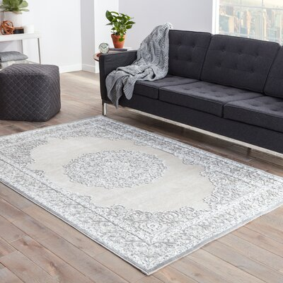 Trinidad Ivory/Gray Area Rug Rug Size: Rectangle 9 x 12