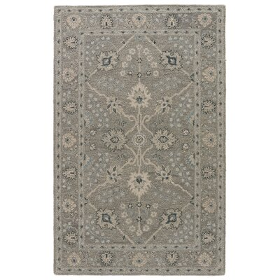 Hannah Hand-Tufted Oyster Gray/Medal Bronze Area Rug Rug Size: Rectangle 2 x 3