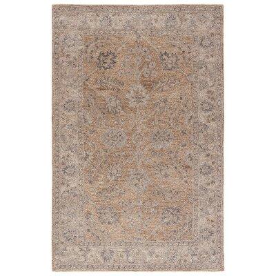 Hannah Hand-Tufted Warm Sand/Paloma Area Rug Rug Size: Rectangle 5 x 8
