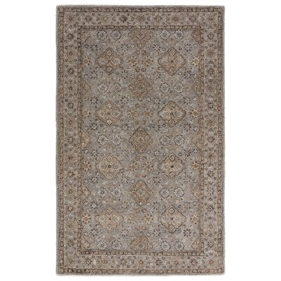 Hannah Hand-Tufted Cement/Chocolate Chip Area Rug Rug Size: Rectangle 2 x 3