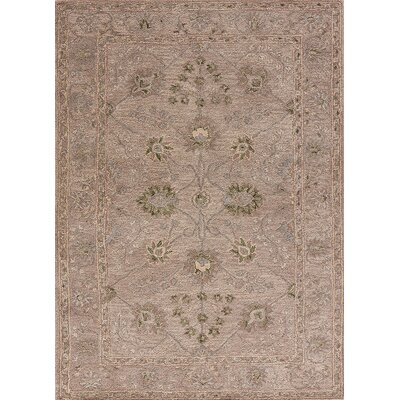 Hannah Hand-Tufted Bone White/Chocolate Chip Area Rug Rug Size: 8 x 11