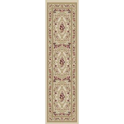 Lara Ivory Floral Area Rug Rug Size: 710 x 910