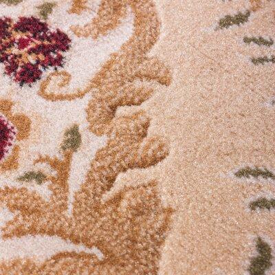 Lara Ivory Floral Area Rug Rug Size: 93 x 126