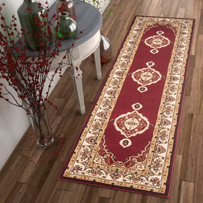 Lara Red Area Rug Rug Size: Runner 2 x 73
