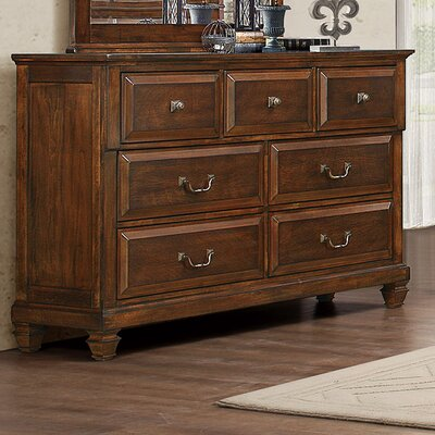 Balonville 5 Drawer Dresser with Mirror