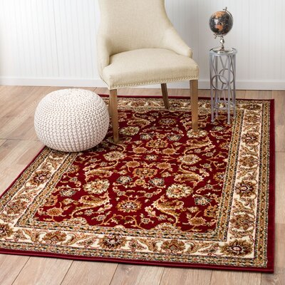Moran Brown/Burgundy Area Rug Rug Size: Runner 2 x 7