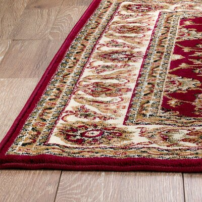 Moran Brown/Burgundy Area Rug Rug Size: 38 x 5
