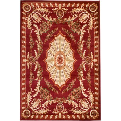 Moran Red Area Rug Rug Size: Runner 2 x 7