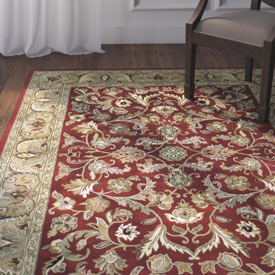 William Garden Red Area Rug