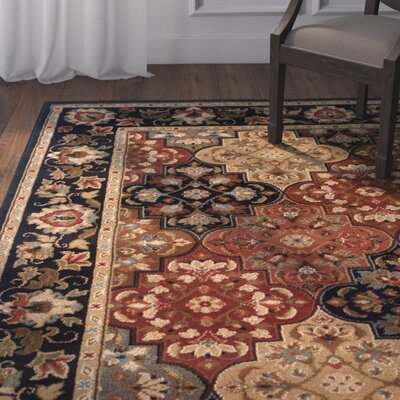 LeClaire Ivory/Green Area Rug Rug Size: 53 x 76