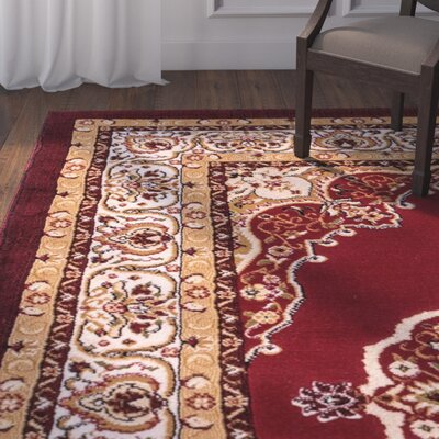 Lara Red Area Rug Rug Size: 27 x 311