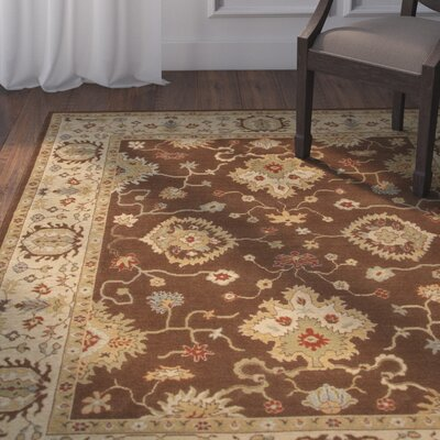 Algo Brown/Tan Area Rug Rug Size: 2 x 3