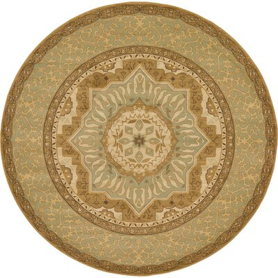 Laurelwood Cream Area Rug Rug Size: Round 8
