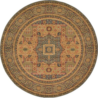 Laurelwood Blue Area Rug Rug Size: Round 8