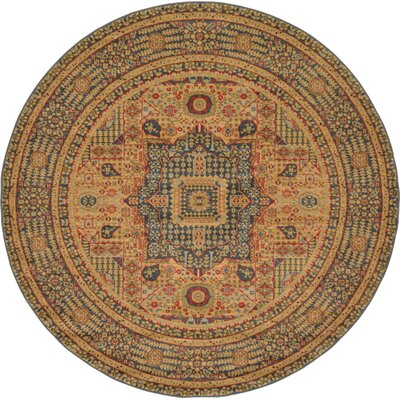 Laurelwood Blue Area Rug Rug Size: Round 6