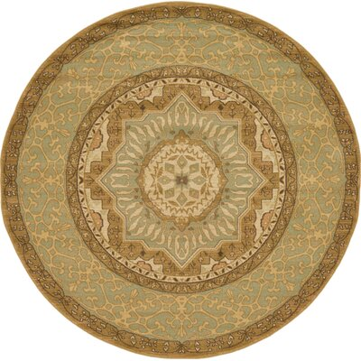 Laurelwood Cream Area Rug Rug Size: Round 6