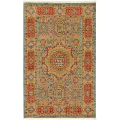 Laurelwood Red/Beige Area Rug Rug Size: Rectangle 5 x 8