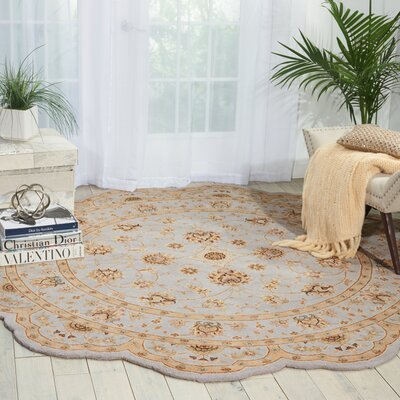 Lundeen Ivory/Light Blue Area Rug Rug Size: Novelty 6 x 6