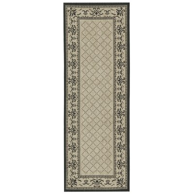 Beasley Vine Border Outdoor Rug Rug Size: Rectangle 27 x 5