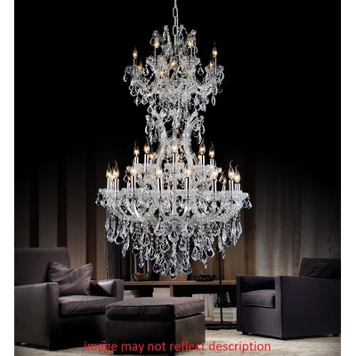 Orr Crystal 34-Light Candle-Style Chandelier Finish: Gold