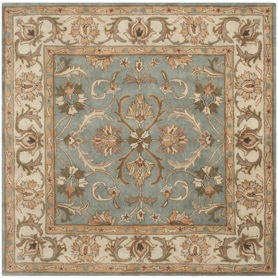 Taylor Hand-Tufted Wool Blue/Beige Area Rug Rug Size: Square 6