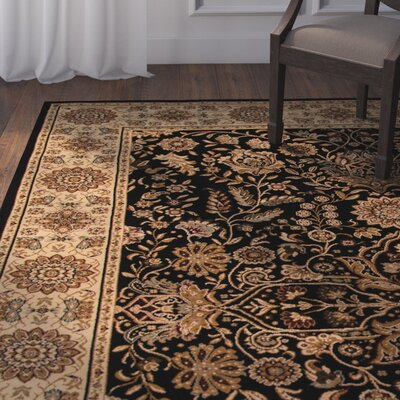 Mira Monte Black/Brown Area Rug Rug Size: Rectangle 2 x 33