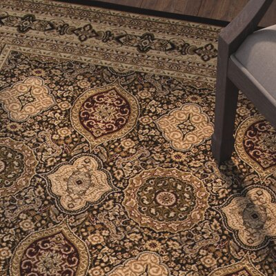 Mira Monte Brown Area Rug Rug Size: 53 x 77