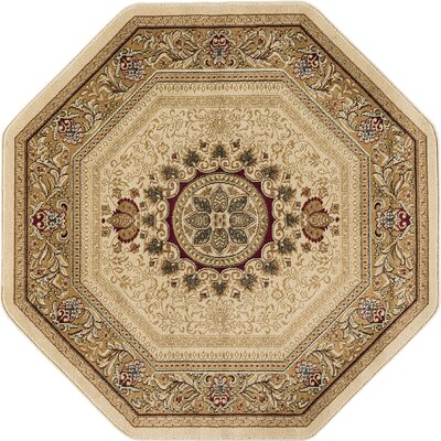 Clarence Beige/Tan Area Rug Rug Size: Ocatagon 6