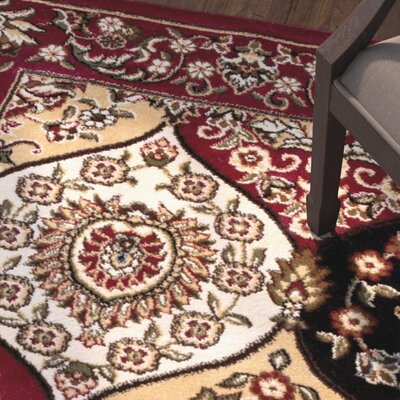 Panel Red Area Rug Rug Size: 311 x 53