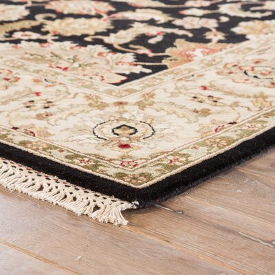 Reculver Ebony/Sand Oriental Rectangular Rug