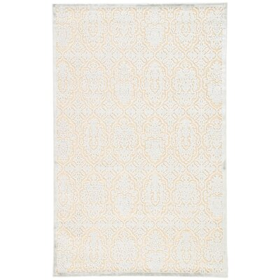 Trinidad Ivory/Blue Area Rug Rug Size: Rectangle 5 x 76