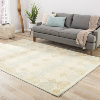 Tremont Desire Cloud White Contemporary Rectangular Rug