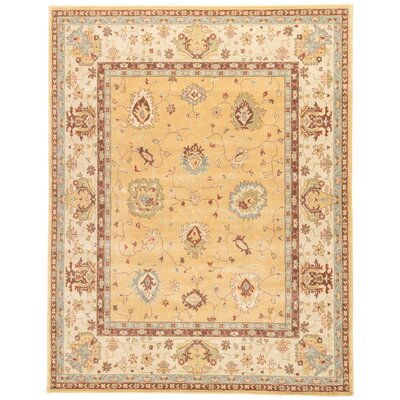 Algo Yellow/Gold/Tan Area Rug Rug Size: 53 x 76