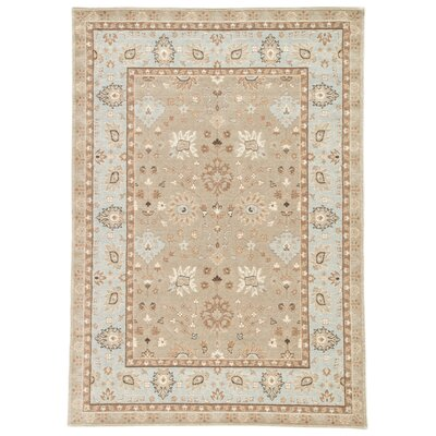 Algo Taupe/Blue Area Rug Rug Size: 710 x 910