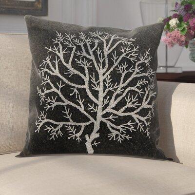 Bascomb Throw Pillow Color: Charcoal