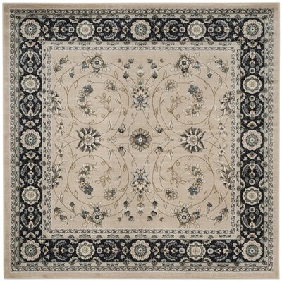 Taufner Light Beige/Anthracite Area Rug Rug Size: Square 7 x 7