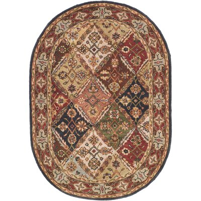 Balthrop Floral Area Rug Rug Size: Oval 46 x 66