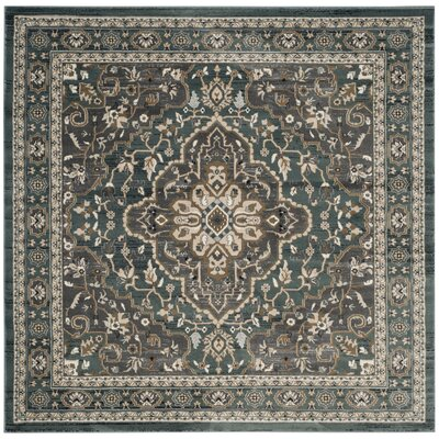 Taufner Teal/Gray Area Rug Rug Size: 8 x 10