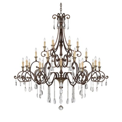 Fairgrove 24-Light Crystal Chandelier