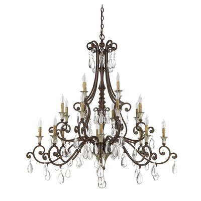 Fairgrove 20-Light Crystal Chandelier
