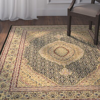 Ardella Black Area Rug Rug Size: Rectangle 5 x 7