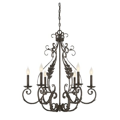 Beanfields 6-Light Candle-Style Chandelier